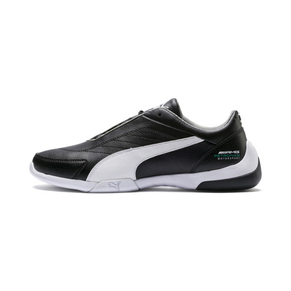 Mercedes AMG Petronas Kart Cat III Shoes, Puma Black-Puma White, large