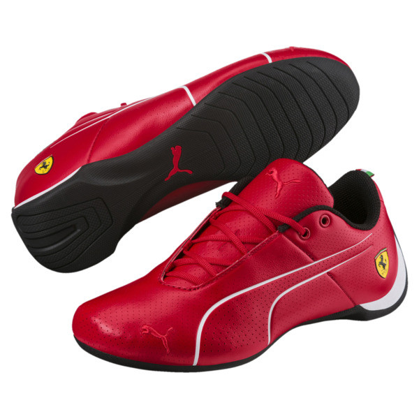 Ferrari Future Cat Ultra Kids' Trainers, Rosso Corsa-Puma White, large