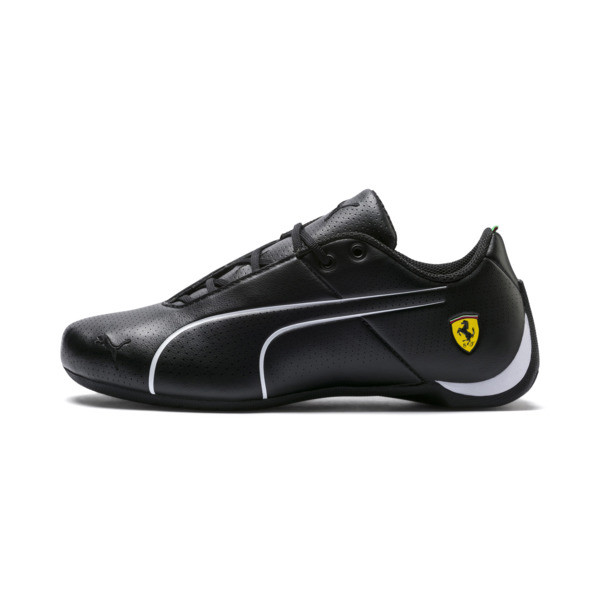 Ferrari Future Cat Ultra Kids' Trainers, Puma Black-Puma White, large