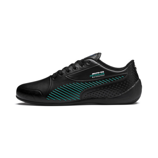 Mercedes AMG Petronas Drift Cat 7S Ultra Shoes, Puma Black-Spectra Green, large