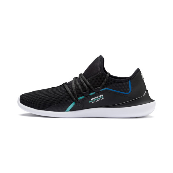Mercedes AMG Petronas Evo Cat Racer Men's Trainers, Puma Black-Puma Black, large