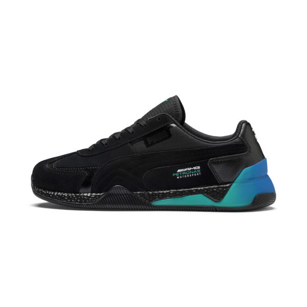 Mercedes AMG Petronas Speed HYBRID Men's Trainers, Blk-spctra grn-indigo bnting, large