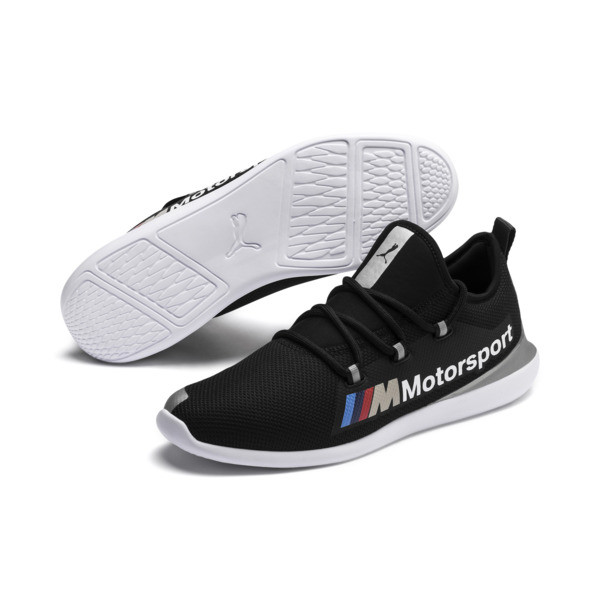 BMW M Motorsport Evo Cat Racer Men's Trainers, Puma Black-Puma Silver, large