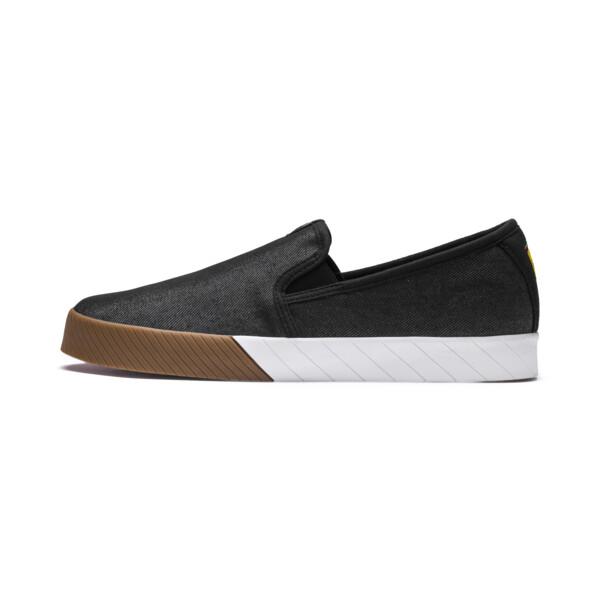 Scuderia Ferrari Men's Slip-On Track Shoes, Puma Black-Puma Black, large