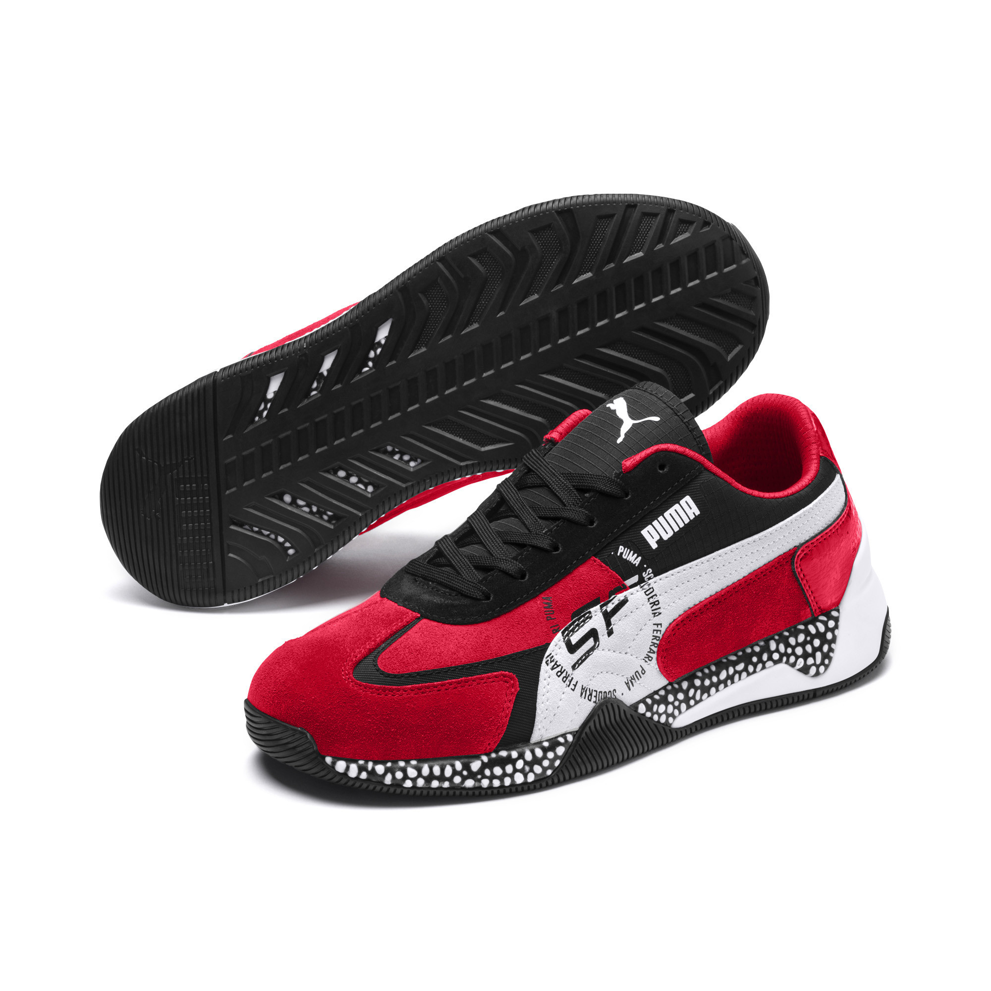 Details zu Puma Sf Kart Cat III Rosso Herren Herrenschuhe Turnschuhe Rot Schuhe 306219 01