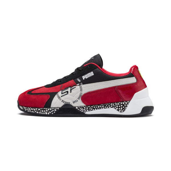 Ferrari Speed HYBRID Men's Trainers, Rosso Corsa-White-Black, large