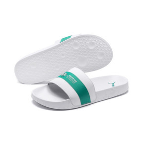 Thumbnail 2 of MAPM Leadcat Slides, Puma White-Spectra Green, medium