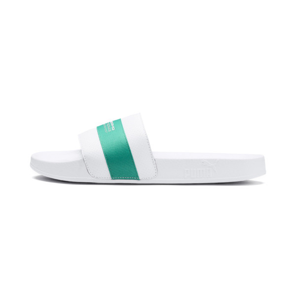 MAPM Leadcat Slides, Puma White-Spectra Green, large