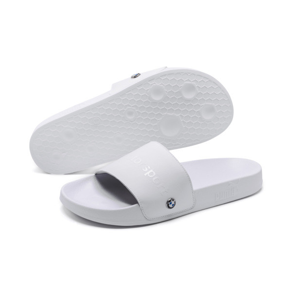 BMW MMS Leadcat Slides, Puma White-Puma White, large