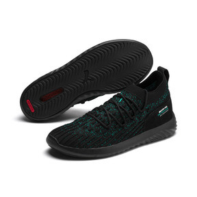 Thumbnail 2 of Mercedes AMG Petronas SpeedCat FUSEFIT Trainers, Puma Black-Spectra Green-Blk, medium