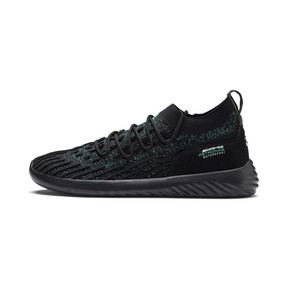 Thumbnail 1 of Mercedes AMG Petronas SpeedCat FUSEFIT Trainers, Puma Black-Spectra Green-Blk, medium