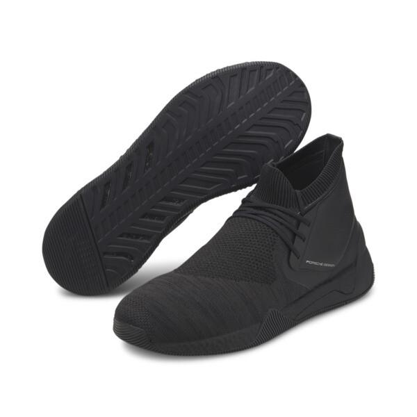 Porsche Design HYBRID evoKNIT Men's Running Shoes, Jet Black-Jet Black-JetBlack, large