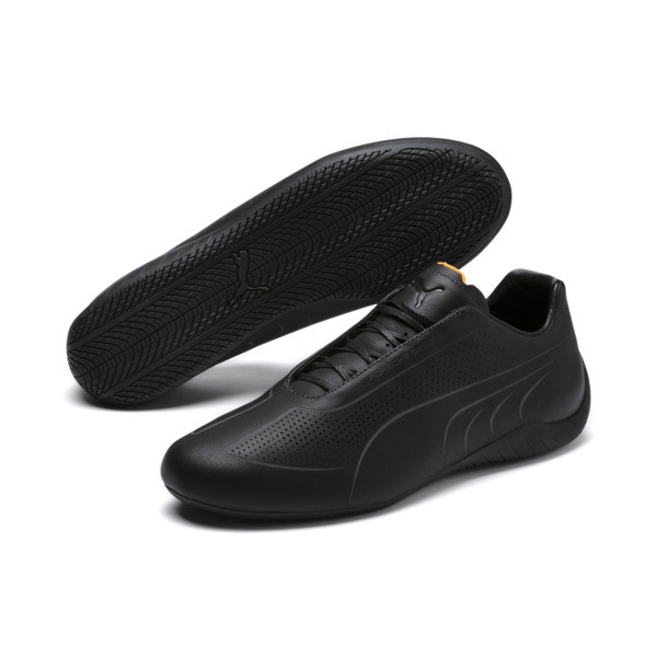 Porsche Design SpeedCat Lux Men's Trainers, Jet Black-OrangePop-JetBlack, large