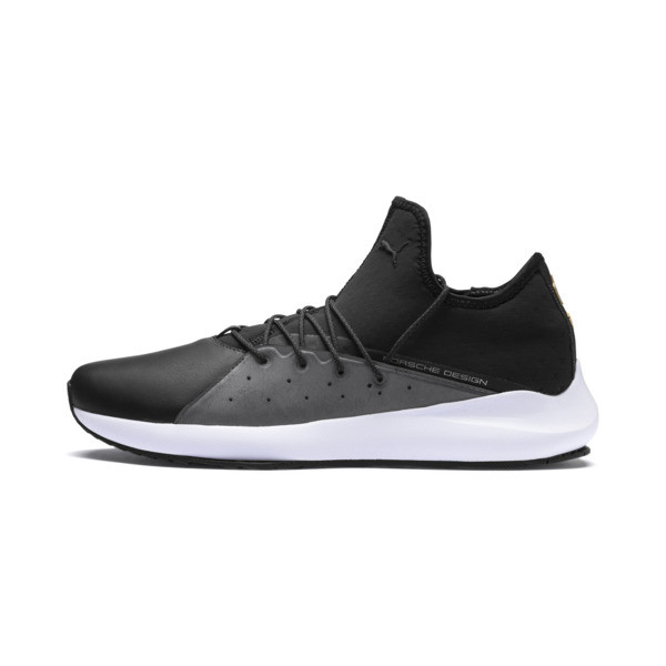 Porsche Design Evo Cat II Men's Trainers, Jet Black-Smoked Pearl-White, large