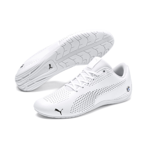 BMW M Motorsport Drift Cat Ultra 5 II Shoes, Puma White-Puma Black, large