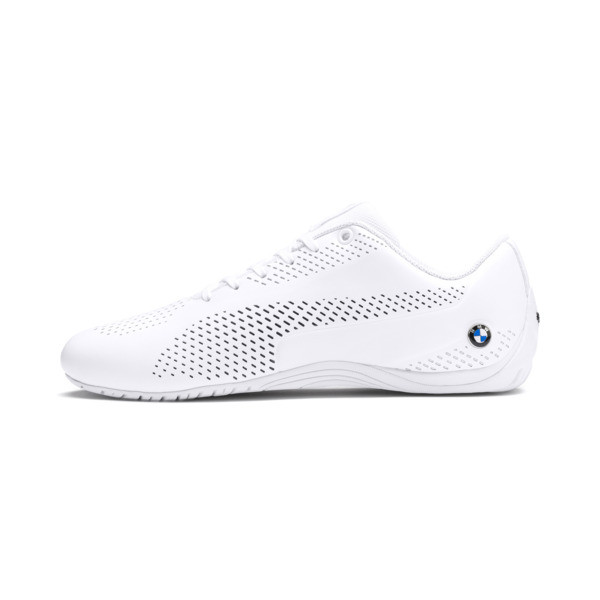 BMW MMS Drift Cat 5 Ultra II Men's Shoes, Puma White-Puma Black, large