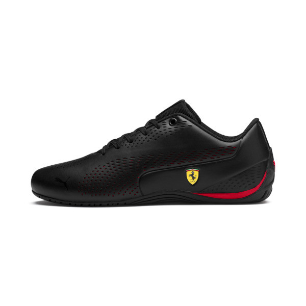 Ferrari Drift Cat 5 Ultra II Trainers, Puma Black-Rosso Corsa, large