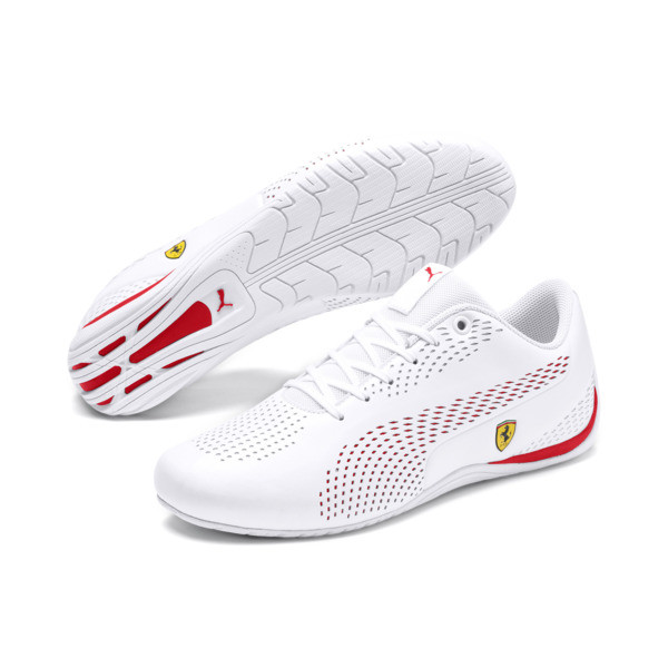 Scuderia Ferrari Drift Cat 5 Ultra II Men's Shoes, Puma White-Rosso Corsa, large