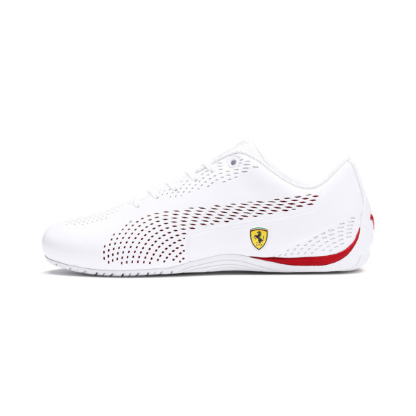Ferrari Drift Cat 5 Ultra II Trainers, Puma White-Rosso Corsa, large