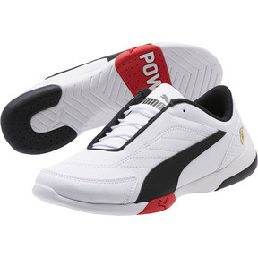 Thumbnail 2 of Scuderia Ferrari Kart Cat III Shoes JR, Puma White-Puma Black, medium