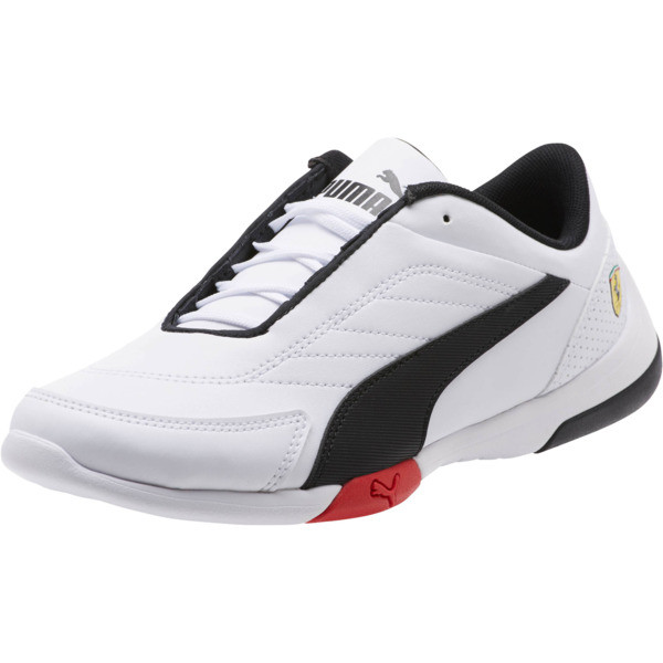 Scuderia Ferrari Kart Cat III Shoes JR, Puma White-Puma Black, large
