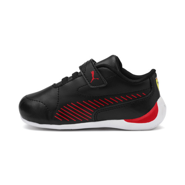 Ferrari Drift Cat 7S Ultra Kids' Trainers, Puma Black-Rosso Corsa, large