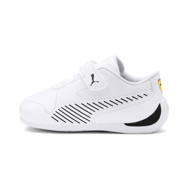 Ferrari Drift Cat 7S Ultra Babies' Trainers, Puma White-Puma Black, large