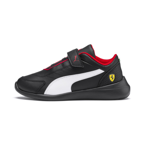 Chaussure Basket Ferrari Kart Cat III pour enfant, Noir/Blanc, Taille 27.5 | PUMA