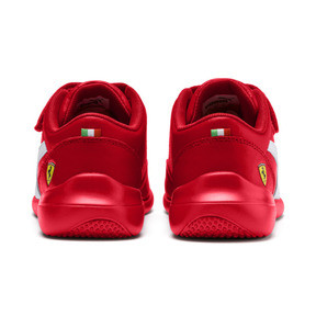 Miniatura 4 de ZapatosScuderiaFerrariKart Cat III para niños pequeños, Rosso Corsa-Wht-Rosso Corsa, mediano