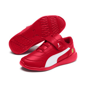 Miniatura 2 de ZapatosScuderiaFerrariKart Cat III para niños pequeños, Rosso Corsa-Wht-Rosso Corsa, mediano