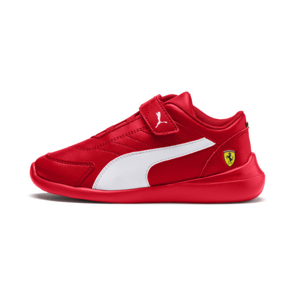 ZapatosScuderiaFerrariKart Cat III para niños pequeños, Rosso Corsa-Wht-Rosso Corsa, grande