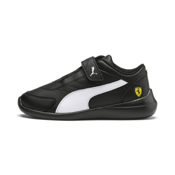 Scuderia Ferrari Kart Cat III Little Kids' Shoes, Black-White-Blazing Yellow, large