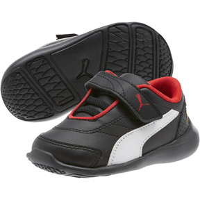 Thumbnail 2 of Scuderia Ferrari Kart Cat III Toddler Shoes, Puma Black-Puma White, medium