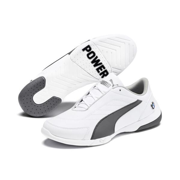 Zapatos deportivos BMW MMS Kart Cat III para JR, Puma White-Smoked Pearl, grande