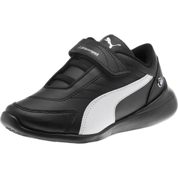BMW M Motorsport Kart Cat III Little Kids' Shoes, Puma Black-Puma White, large