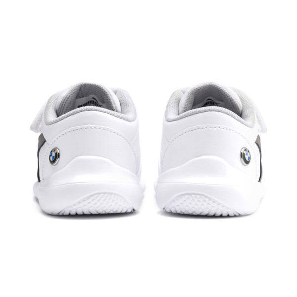 BMW M Motorsport Kart Cat III Toddler Shoes, Puma White-Smoked Pearl, large