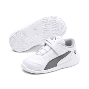 Thumbnail 2 of BMW M Motorsport Kart Cat III Toddler Shoes, Puma White-Smoked Pearl, medium