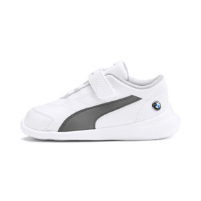 Thumbnail 1 of BMW M Motorsport Kart Cat III Toddler Shoes, Puma White-Smoked Pearl, medium