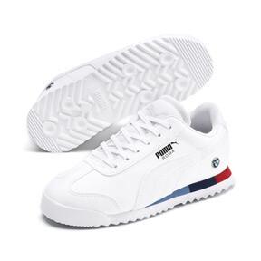 Thumbnail 2 of BMW M Motorsport Roma Little Kids' Shoes, Puma White-Puma White, medium