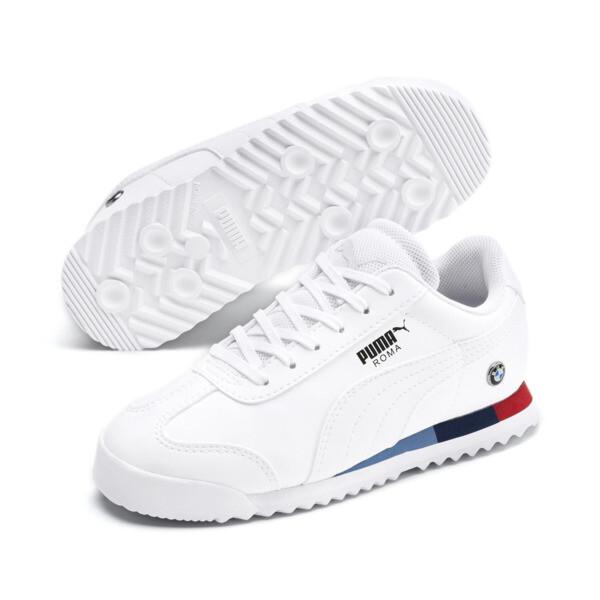 BMW M Motorsport Roma Little Kids' Shoes, Puma White-Puma White, large