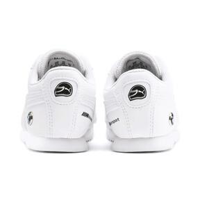 Thumbnail 3 of BMW M Motorsport Roma Toddler Shoes, Puma White-Puma White, medium