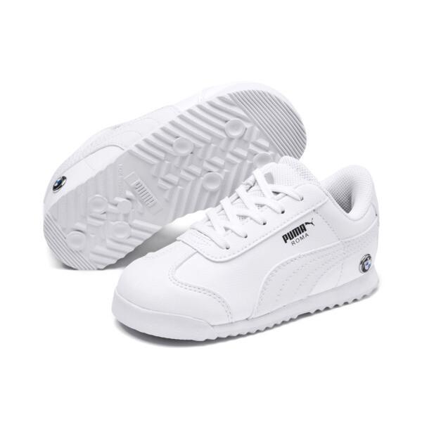 BMW M Motorsport Roma Toddler Shoes, Puma White-Puma White, large