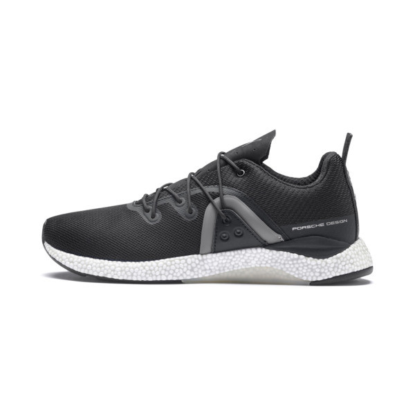 Porsche Design Hybrid Runner Men's Trainers, Jet Black-Smoked Pearl, large
