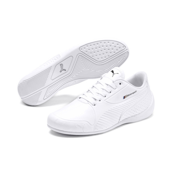 BMW M Motorsport Drift Cat 7S Ultra Youth Trainers, Puma White-Puma White, large