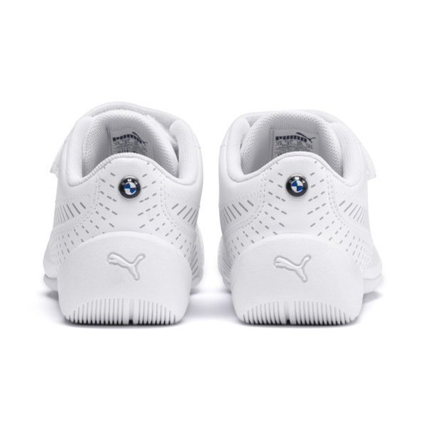 BMW M Motorsport Drift Cat 7S Ultra Kids' Trainers, Puma White-Puma White, large