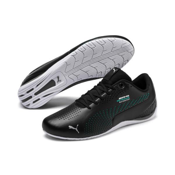 Mercedes AMG Petronas Drift Cat 5 Ultra II Shoes, Puma Black-Spectra Green, large
