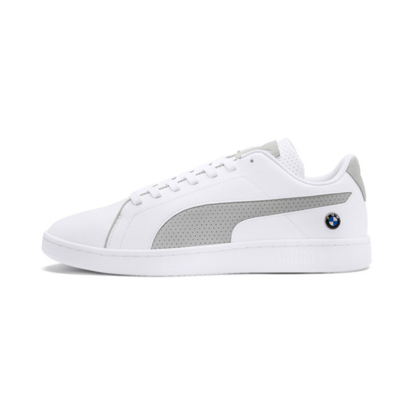 BMW M Motorsport Smash v2 Sneakers, Puma White-Gray Violet, large