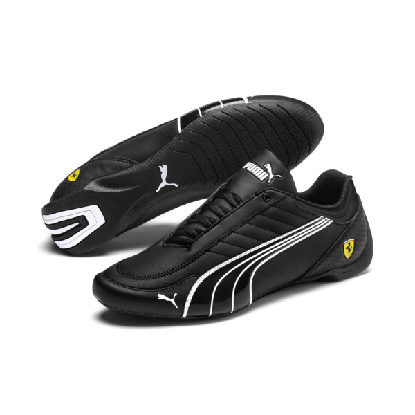 Scuderia Ferrari Future Kart Cat Shoes, Black-Puma White-Rosso Corsa, large