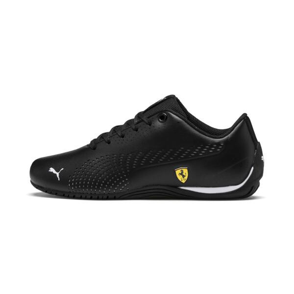 Zapatos Scuderia Ferrari Drift Cat 5 Ultra II para JR, Puma Black-Puma White, grande
