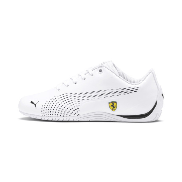 Zapatos Scuderia Ferrari Drift Cat 5 Ultra II para JR, Puma White-Puma Black, grande